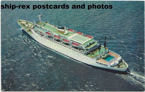 ATLANTIC (1958, American Export Lines) postcard (a)
